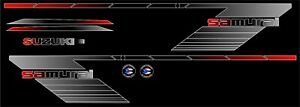 SUZUKI SAMURAI DECALS LINES STICKERS CALCOMANIAS GRAFICAS RED BLACK AND GRAY