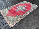 Vintage from the 1950s, Carpet, Turkish large rug, % 100 wool rug   4,8 x 8,2 ft