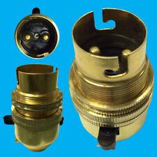 1x Brass Bayonet Socket BC B22 M10 Entry Light Bulb Holder Switch & Shade Collar