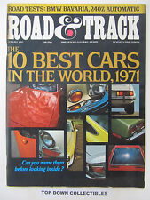 Road and Track Magazine    August  1971    10 Best Cars In The World, 1971