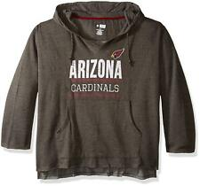 NFL Arizona Cardinals V Notched Pullover Hood with Ragged Edge, 4X, Charcoal