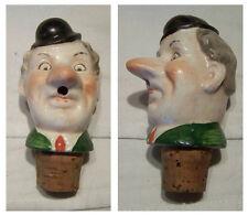 Schnapsausgießer Porzellan Kopf Ausgießer Mann mit Mütze