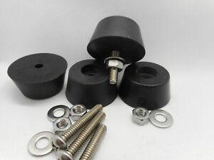 Set Of 4 Generator-Air Compressor Etc. Rubber Feet Set w/Mounting Hardware