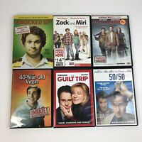 Seth Rogen 6 DVD Lot Knocked Up Guilt Trip 50/50 Pineapple Express Zack & Miri