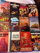 12 PB Sci-Fi Lot Harry Harrison REBEL DEATHWORLD STAINLESS PLAGUE DALETH  + 7