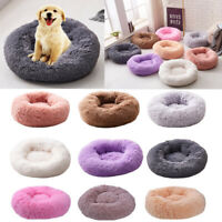 Soft Plush Round Dog Cat Pet Nest Cashmere Warm Sleeping Calming Bed XS-3XL