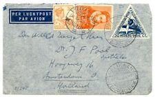 NED INDIE  DUTCH INDIES 1933-12-27  FC  - SPEC PM =PELIKAAN-BATAVIA= F/VF