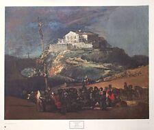 Maypole-Francisco Jose Goya Y lucientres -73 x88cm, Rara Original 1970 impresión