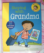 First Experience Sticker Book Grandparents Sleepover Activity Story Childs Age3+