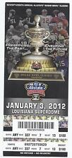 2012 Sugar Bowl Game Full Unused Ticket Michigan Virginia Tech