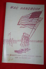 COPY OF WW2 WAC WOMEN'S ARMY CORPS HANDBOOK FORT DES MOINES