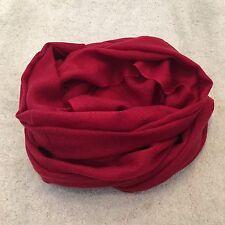Rosso Pura Lana Cashmere Sciarpa Scialle Avvolgere Nepal fatto a mano belle Knit REGALO Ruby Woo