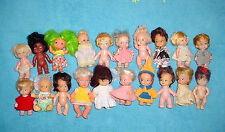 Vtg 60s-70s Pee Wees & Friends-Kiddle Storykin Era-Little Small Doll-Lot 3