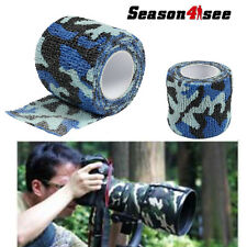 1X Waterproof Camouflage Hunt/Camp Wraps 4.5M Stretch Tape Bandage Ocean Camo
