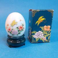 "Vtg 1970s Avon ORIENTAL EGG Delicate Blossoms 1 oz 2.75"" Cologne EMPTY Bottle"
