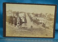 Scarce 1880s New Zealand Cabinet Card Photo Grey St Auckland Market Hotel Busby