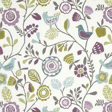 Clarke and Clarke100 Cotton Curtain Fabric/craft Folki Heather/olive