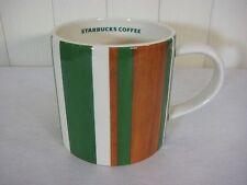 2006 Starbucks Green & Brown Stripes Coffee Mug