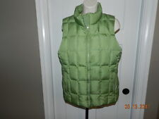 Gap puffer vest womens M Green down feather insulated zip front vest