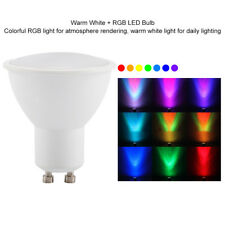 GU10 3W RGB LED Light Bulb  Dimmable with Remote Control Warm White Color