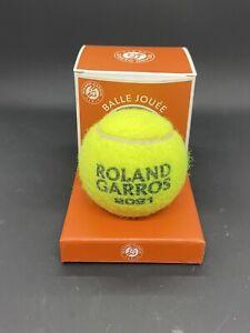 2021 French Open Roland Garros Match Used Tennis Ball Won By Novak Djokovic