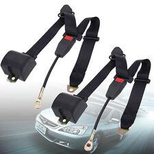 2X 3 Point retrattile auto Car Cintura giro regolabile cintura di sicurezza