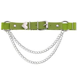 Allacki PU Leather Sexy Thigh Chain Leg Belt Adjustable Garter Belt