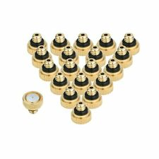 "KUWAN 20pcs Brass Misting Nozzles for Cooling System 0.012"" (0.3 mm) 10/24 UN..."