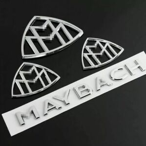 Maybach set Fender Side Rear Trunk Emblems Badge AMG For Mercedes Benz S Class