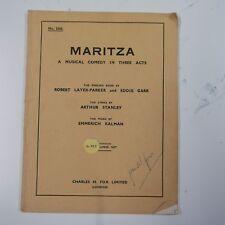 libretto KALMAN - MARITZA