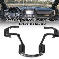 Fit Ford F-150 20152016 2017 Carbon Fiber Car Steering Wheel Trim Frame Cover