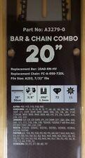 "20"" Combo Pro Bar & Chain  3/8-050-72DL repl Husqvarna 266 268  272 372 385 395"