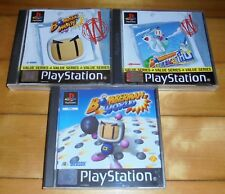 SONY PS 1 BOMBERMAN BUNDLE - BOMBERMAN + FANTASY RACE + BOMBERMAN WORLD VVGC