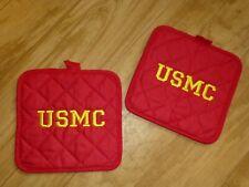 USMC Potholder Set of 2 RED free shipping
