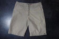 """Quiksilver Men's Beige/Blue Check Shorts Size 32W 32"""""""