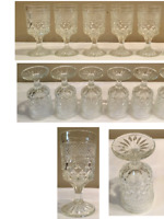 Vintage Anchor Hocking Drinking Glass 6 oz Goblets WEXFORD Set of 5