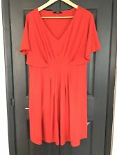 M&S MARKS AND SPENCER RED VNECK PLUNGE KIMONO SUMMER HOLIDAY TSHIRT DRESS 12 14