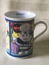 The Pillsbury Doughboy ~ Porcelain Collector Mug ~ January ~ Danbury Mint ~ 2001
