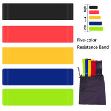New listing Resistance Bands Exercise Sports Loop Fitness Home Gym Yoga Latex Set Free Bag