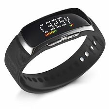 Golf Buddy BB5 Golf Range Finder Wrist Band GPS Band Watch w/ Pedometer, Black
