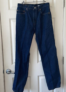 Vintage Levis 505 Jeans Regular Fit Men's (34X34) Made In USA straight leg