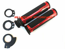 Barracuda Coppia manopole Racing Supergrip Argento Ducati 848 1098 1198 Panigale
