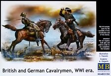 Masterbox 1:35 British And German Cavalrymen Horses And Figures WWI Model Kit