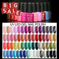 Soak-off UV LED Nail Gel Polish Color Varnish Top Matte Base Coat Salon Fashion+