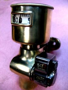 EARLY BRASS WARNER AUTOMETER SPEEDOMETER WITH VEEDER ODOMETER STODDARD  PACKARD