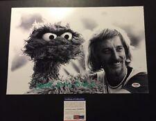 "Caroll Spinney Signed Oscar Photo With PSA DNA 11""x17"" Photo With Oscar Sesame"