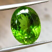 CERT 10.5 Ct NATURAL CEYLON SPARKLY PERIDOT TOP GREEN COLOR SUPERB TRANSPARENCY