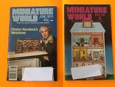 Rare Vintage 1978 Miniature World Digest Magazines Lot Ethelyn Woodlock