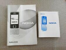 Nokia Mobiles Instructions booklets. For Nokia C2-01 & Nokia 6301.