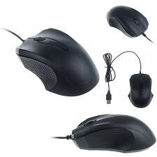 1200 DPI con cable USB Optico Gaming Ratones Mouse portátil PC Ordenador Negro